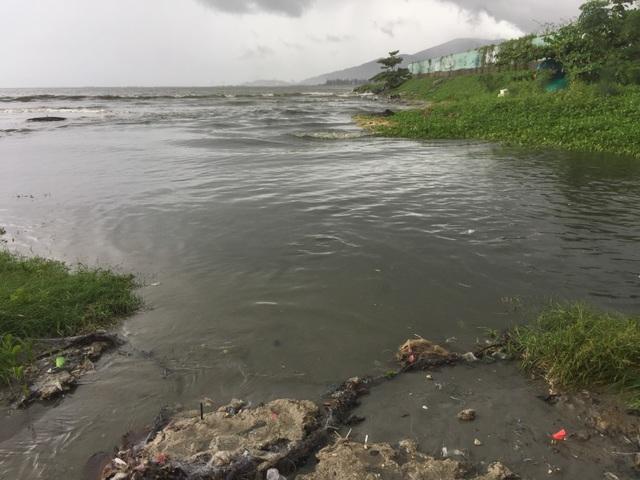 Nước thải đen ngòm lại tràn ra biển Đà Nẵng sau trận mưa lớn - 4