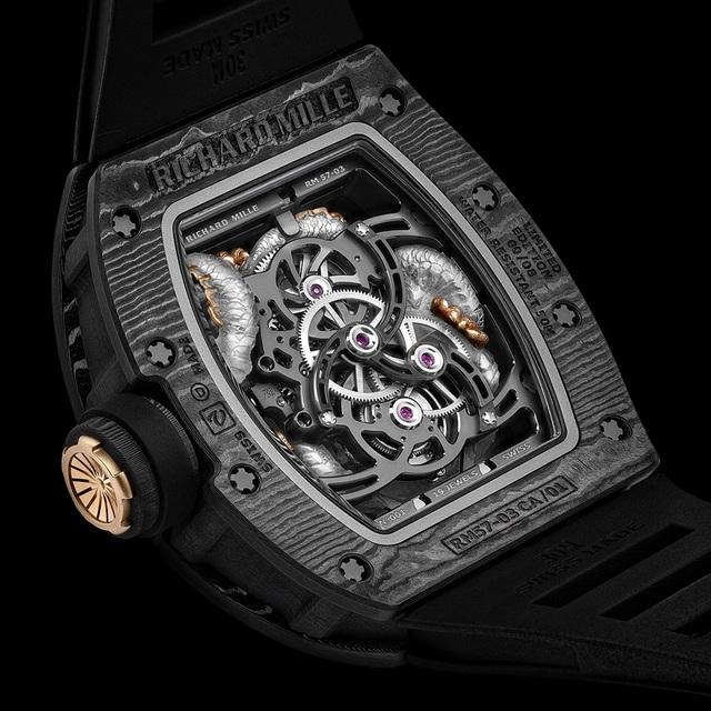 RM 57-03 Tourbillon Sapphire Dragon – Sự dung hòa giữa nghệ thuật chạm khắc với chất liệu tiên phong - 5