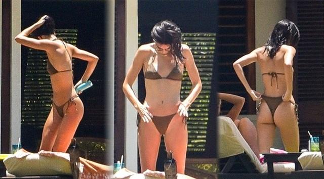 Kendall Jenner khoe chân siêu dài - 6