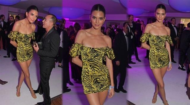 Kendall Jenner khoe chân siêu dài - 7