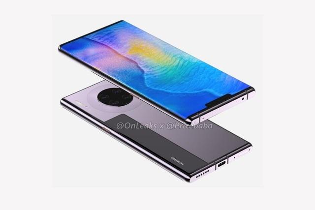 """Huawei Mate 30 Pro lộ thiết kế hoàn chỉnh - Màn hình """"thác nước"""", loại bỏ nút điều khiển vật lý - 3"""