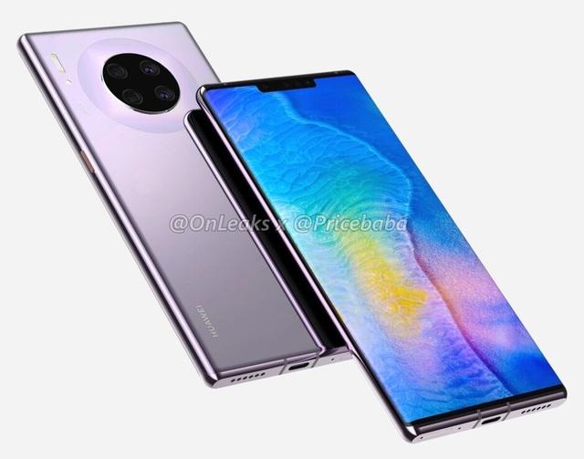 """Huawei Mate 30 Pro lộ thiết kế hoàn chỉnh - Màn hình """"thác nước"""", loại bỏ nút điều khiển vật lý - 2"""