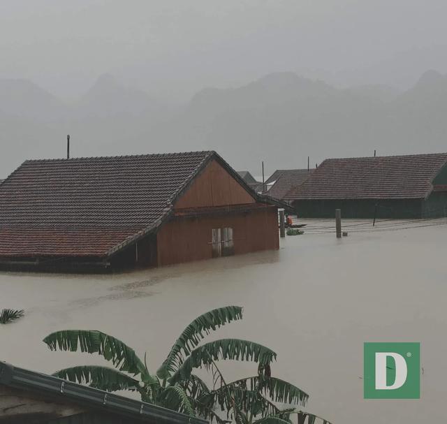Miền Trung mênh mông nước lũ, hàng trăm ngôi nhà ngập đến tận nóc - 23