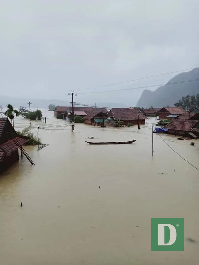 Nước lũ lên nhanh gây ngập, chia cắt nhiều nơi tại Quảng Bình - 4