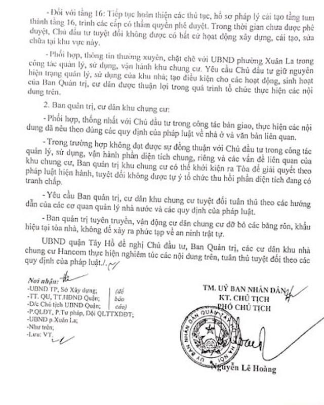Phó Thủ tướng Trương Hoà Bình yêu cầu làm rõ vụ cư dân chung cư Hancom kêu cứu - 5