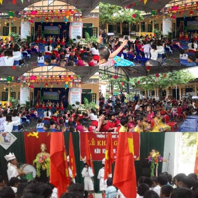 Dù mưa lũ, học sinh Quảng Trị vẫn tham gia ngày hội khai trường - 1