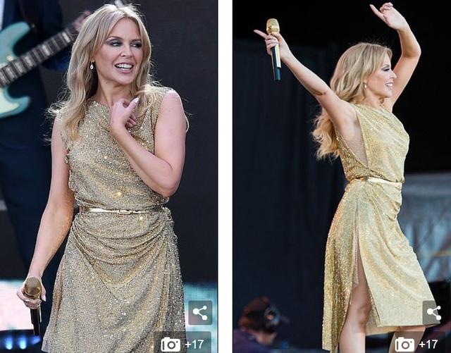 Kylie Minogue diện váy đính 100.000 viên pha lê - 5
