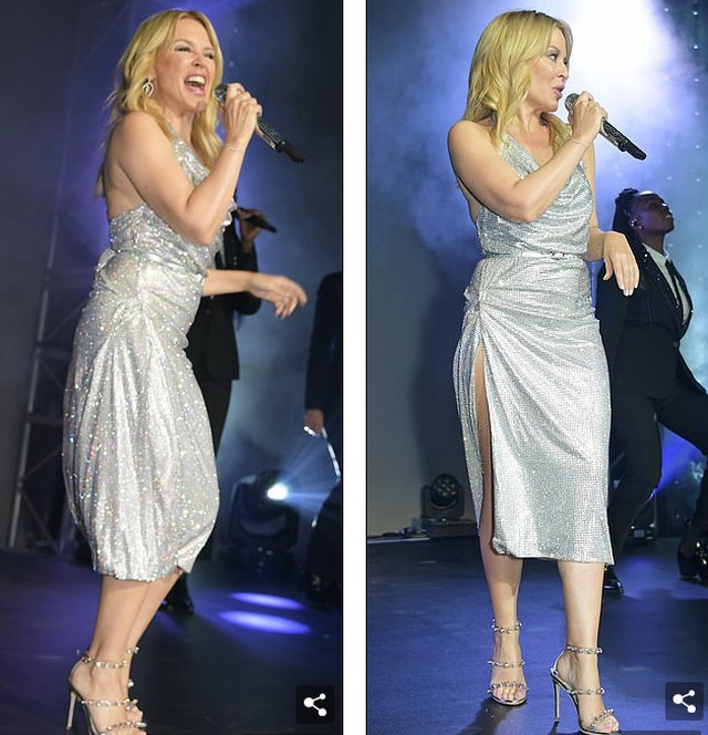 Kylie Minogue diện váy đính 100.000 viên pha lê - 7
