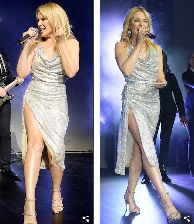 Kylie Minogue diện váy đính 100.000 viên pha lê - 9