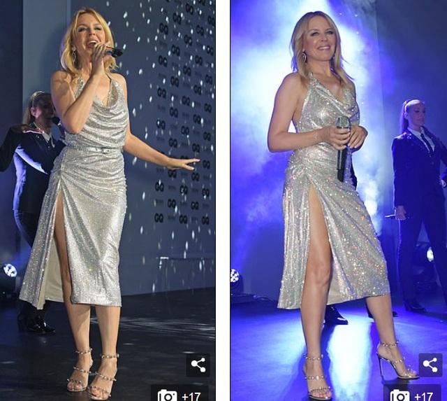 Kylie Minogue diện váy đính 100.000 viên pha lê - 11
