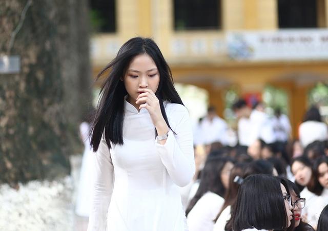 Nữ sinh Hà thành trong tà áo dài trắng gây thương nhớ ngày khai giảng - 5