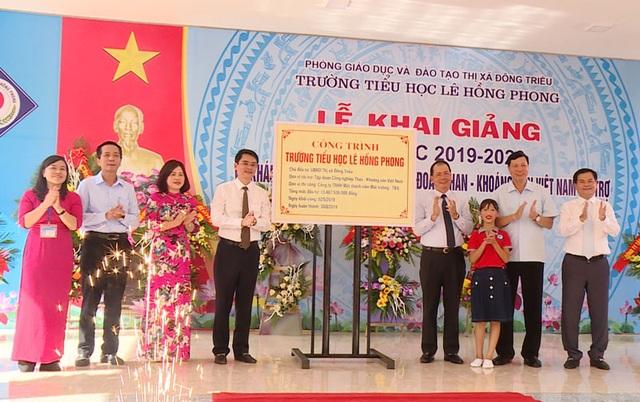 TKV giúp đỡ khánh thành 3 trường tiểu học nhân dịp năm học mới - 2