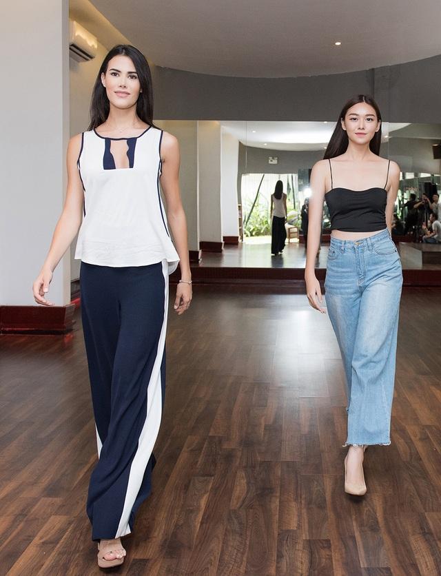 Hoa hậu Quốc tế Mariem Velazco tận tình hướng dẫn Tường San catwalk - 3