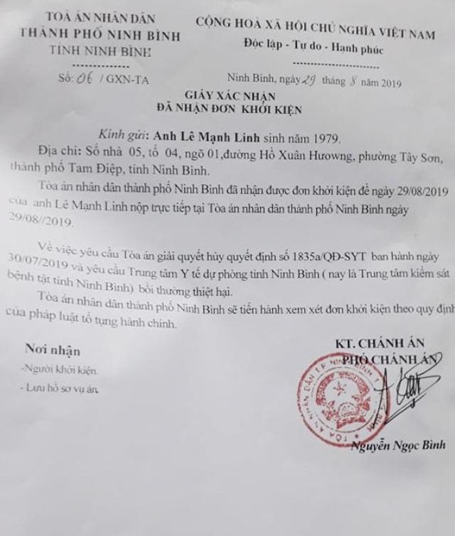 """Người bị """"kết án oan"""" nhiễm HIV gần 10 năm khởi kiện Giám đốc Sở Y tế Ninh Bình! - 5"""
