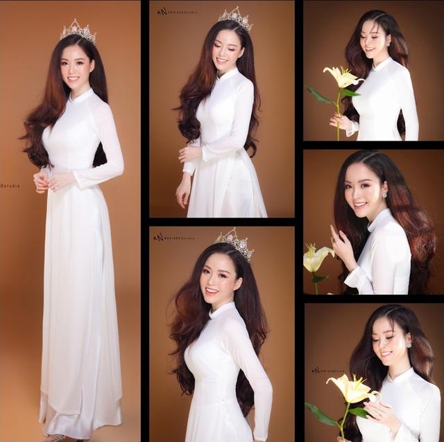 Hoa khôi Vũ Thanh Tú khoe nét duyên dáng trong tà áo trắng - 12