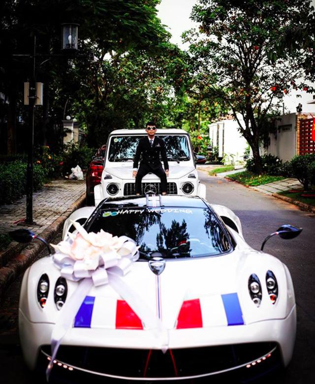 Choáng với siêu xe, trang sức kim cương trĩu tay trong đám cưới con đại gia - 4