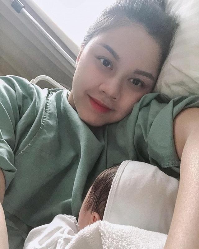 Hoa hậu Thân thiện Đậu Hồng Phúc bất ngờ khoe ảnh sinh con lần 2 - 5