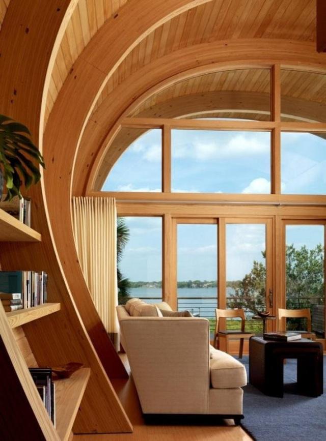 Ngôi nhà lơ lửng giữa rừng cây có view nhìn ra hồ tuyệt đẹp - 5