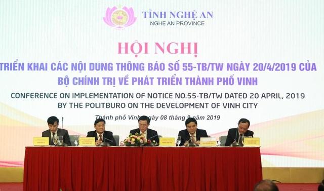 Phó Thủ tướng Vương Đình Huệ chủ trì hội nghị về phát triển thành phố Vinh - 1