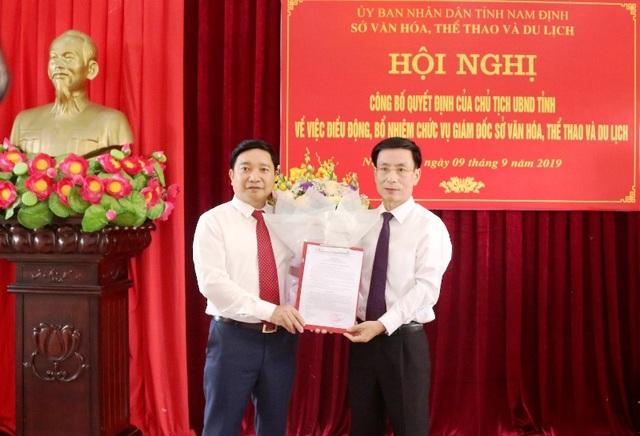 Phó Giám đốc Sở Giáo dục Nam Định làm Giám đốc Sở Văn hóa Thể thao và Du lịch - 1