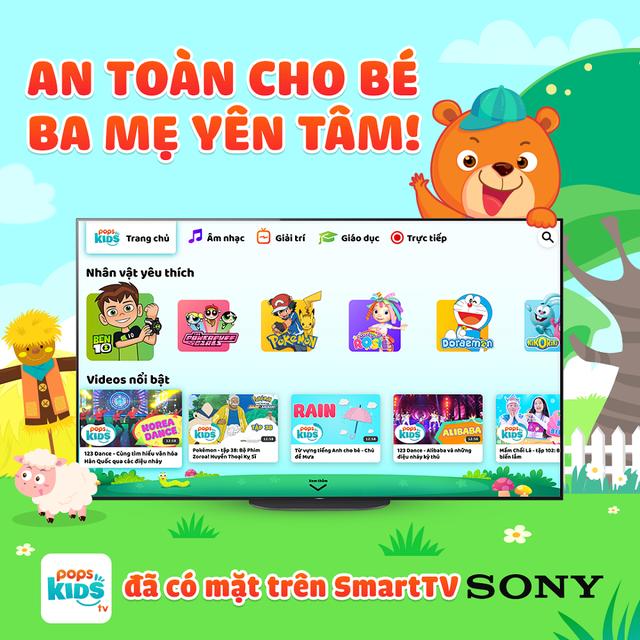 Ứng dụng cho bé POPS Kids đã chính thức có mặt trên Sony TV