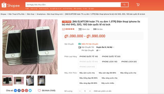 Ngày siêu sale 9/9: Di động mới giảm ít, toàn iPhone cũ và hàng trôi nổi - 3