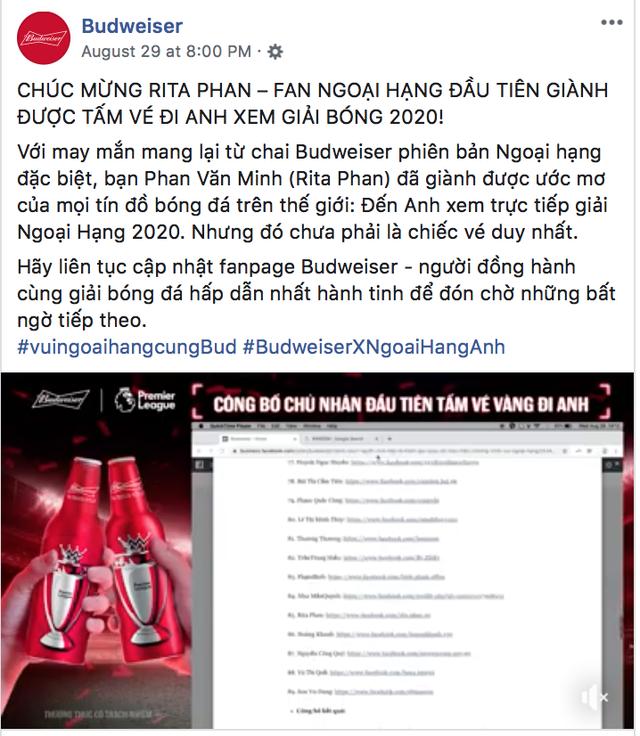 """""""Vua bia"""" thượng hạng Budweiser trao tấm vé đầu tiên đưa fan Việt đến Anh gặp vua ngoại hạng - 3"""