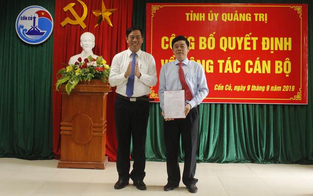 Phó Chánh Văn phòng Tỉnh ủy Quảng Trị làm Bí thư huyện đảo Cồn Cỏ - 1