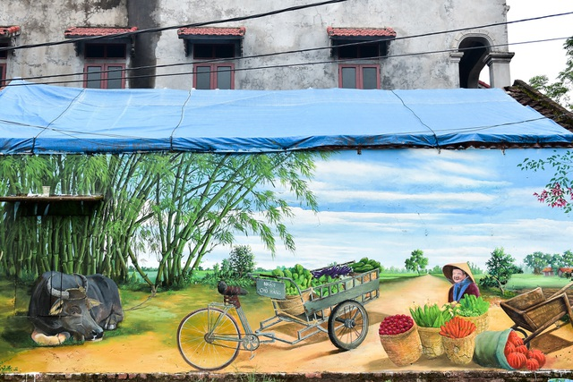 Bích họa lạ lẫm ở làng nông nghiệp ngoại thành Hà Nội  - 7