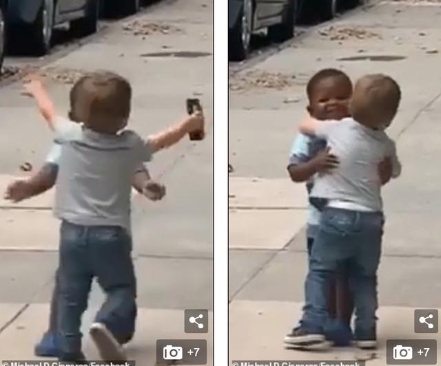 Tình bạn đẹp của hai đứa trẻ 2 tuổi gây nức lòng cư dân mạng - 1
