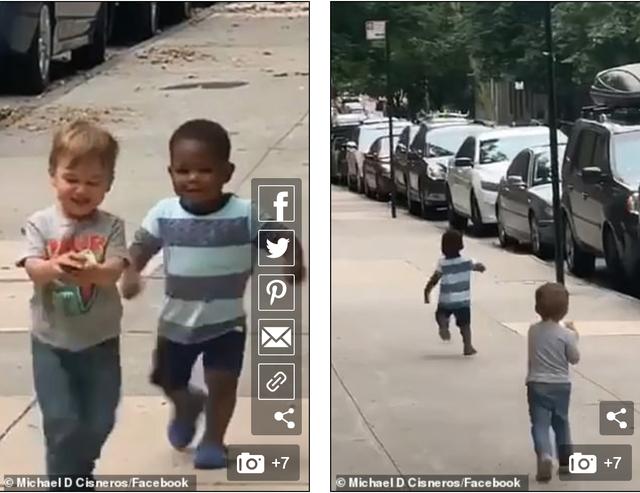 Tình bạn đẹp của hai đứa trẻ 2 tuổi gây nức lòng cư dân mạng - 3