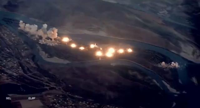 Video chim sắt F-15 và F-35 của Mỹ dội 36 tấn bom vào các mục tiêu IS  - 1