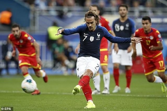Griezmann lại đá hỏng phạt đền, Pháp vẫn thắng đậm Andora - 1