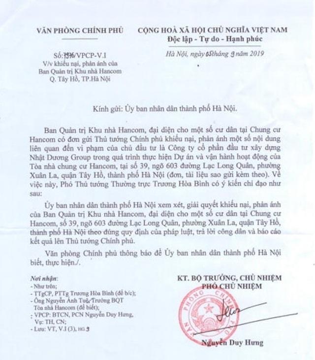 Vụ cư dân Hancom kêu cứu đỏ toà nhà: Quận Tây Hồ thanh minh do lỗi tham mưu! - 2