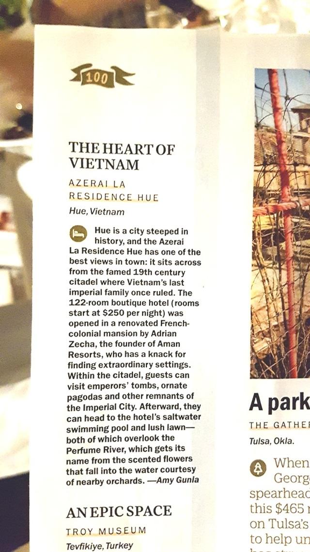 Khách sạn duy nhất Việt Nam lọt Top 100 điểm đến Tuyệt vời nhất thế giới của Tạp chí Time - 4