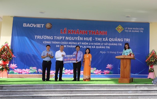 Tập đoàn Bảo Việt đồng hành cùng thế hệ trẻ Việt Nam dịp khai trường, xây dựng trường học tại Quảng Trị - 1