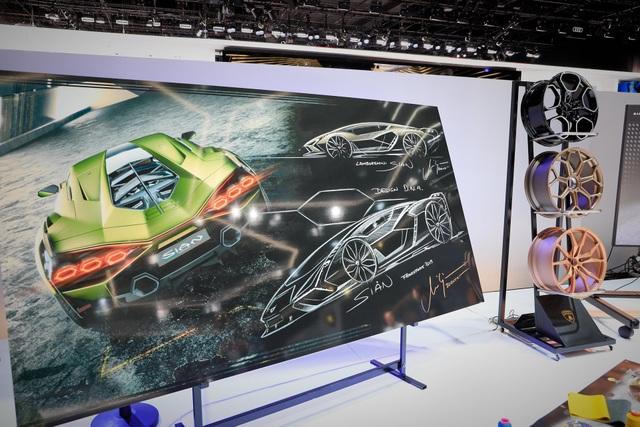 Cận cảnh siêu xe hybrid đầu tiên của Lamborghini  - 1