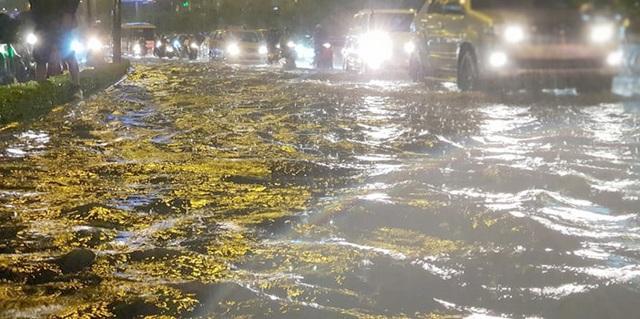 TPHCM: Người, xe bơi trên nhiều tuyến phố ngập nặng trong mưa lớn - 7