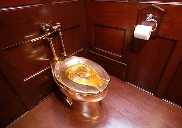 Bệ xí…bằng vàng trị giá hơn 29 tỷ đồng ở Cung điện Blenheim (Anh) bị đánh cắp - 1