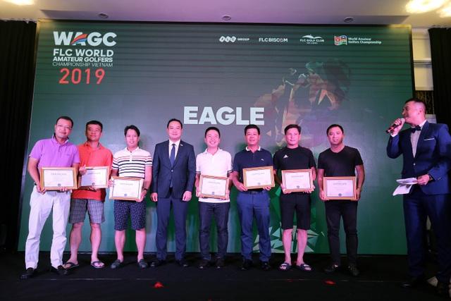 """""""Mưa Eagle"""" tại vòng loại phía bắc FLC WAGC Vietnam 2019 - 2"""