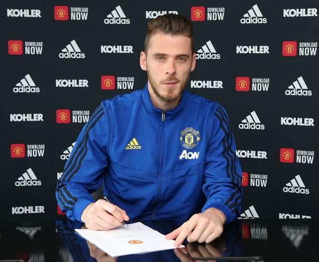 """De Gea ký hợp đồng với mức lương """"khủng"""" tại Man Utd - 1"""