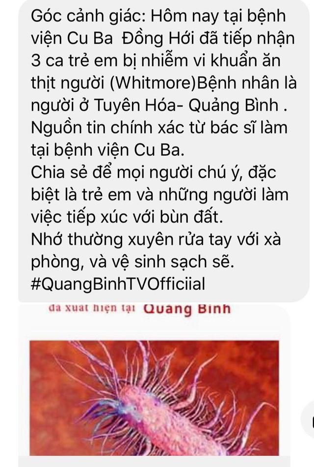 """Thực hư tin đồn vi khuẩn ăn thịt người"""" xuất hiện tại Quảng Bình - 1"""