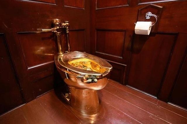 Hình ảnh bồn cầu vàng hơn trăm tỷ vừa bị đánh cắp - 4