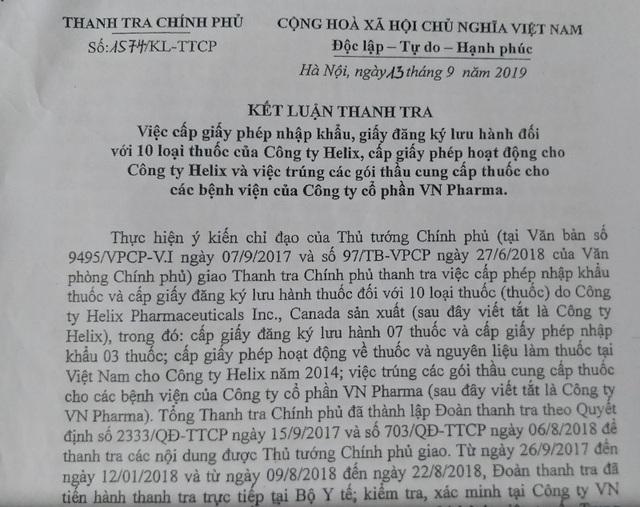 Kết luận vụ VN Pharma: H-Capita có nguồn gốc ở Ấn Độ, chưa đưa vào lưu hành ở Việt Nam - 1