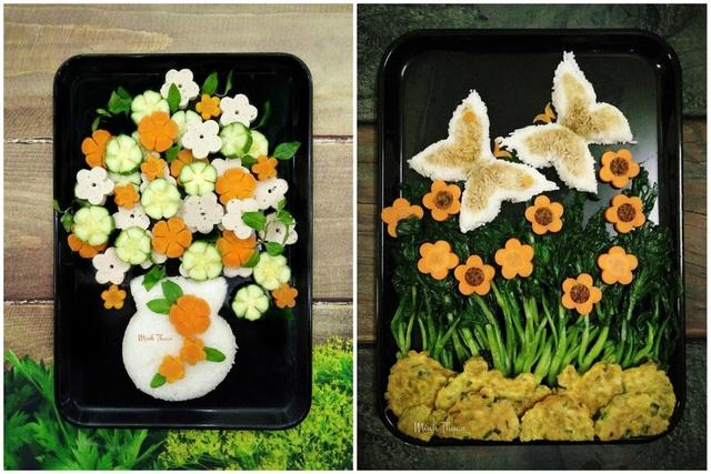 Tròn mắt trước những đĩa rau luộc đẹp như tranh vẽ của bà mẹ Hà thành - 7