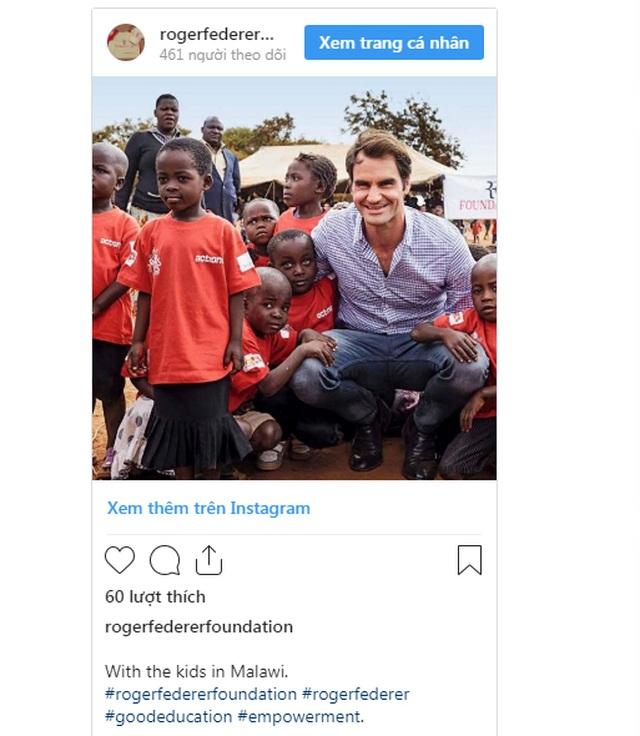 Không chỉ là tay vợt vĩ đại, Roger Federer còn là nhà từ thiện nổi tiếng - 2