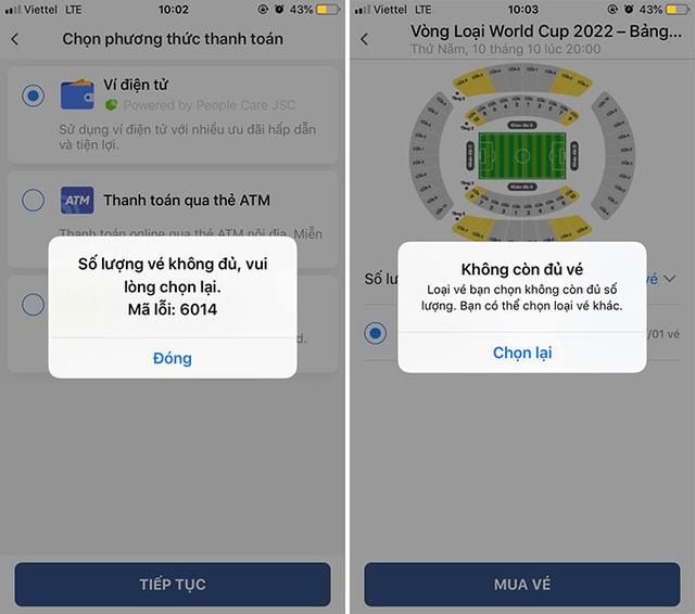 Cháy vé đợt 1 trận Việt Nam – Malaysia chỉ sau…3 phút
