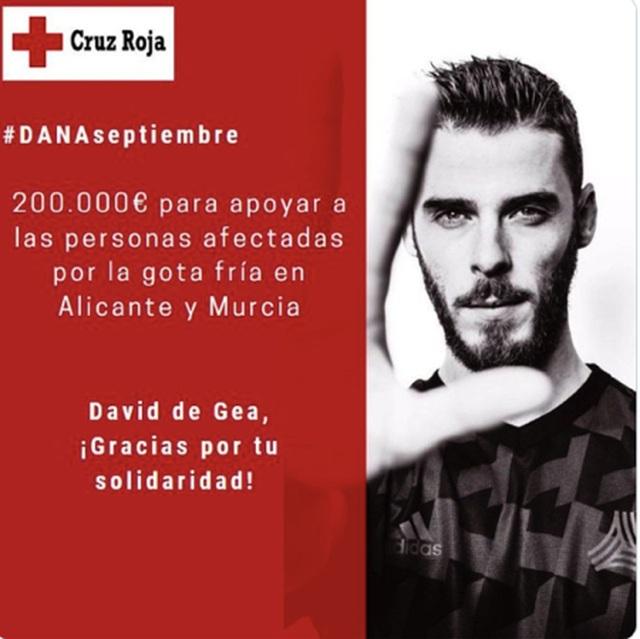 Sau khi được MU tăng lương, De Gea đem hơn 5 tỉ đồng đi làm từ thiện - 2