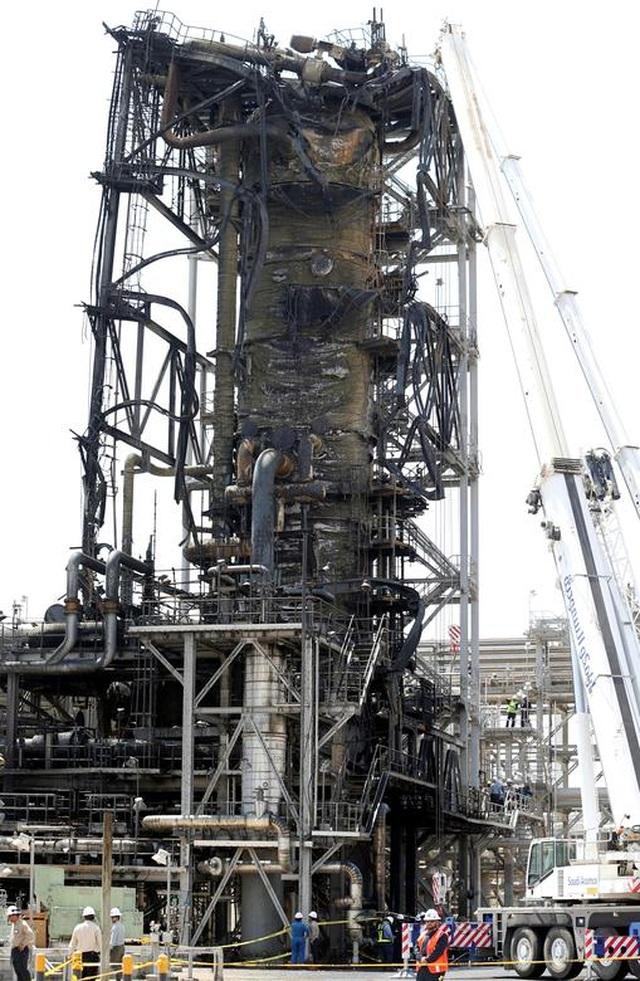 Nhà máy dầu Ả rập Xê út chi chít vết tích hỏa lực sau vụ tấn công chấn động - Ảnh minh hoạ 10