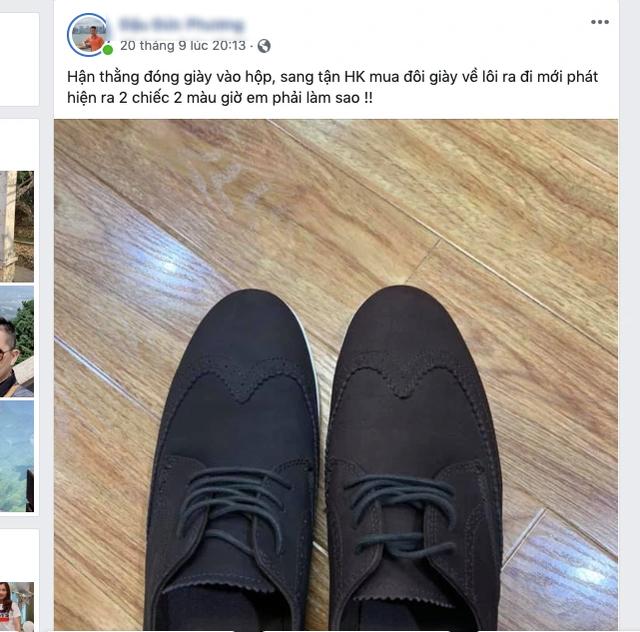 Du khách cười mếu vì sang Hong Kong... mua giày hai chiếc hai màu - 1